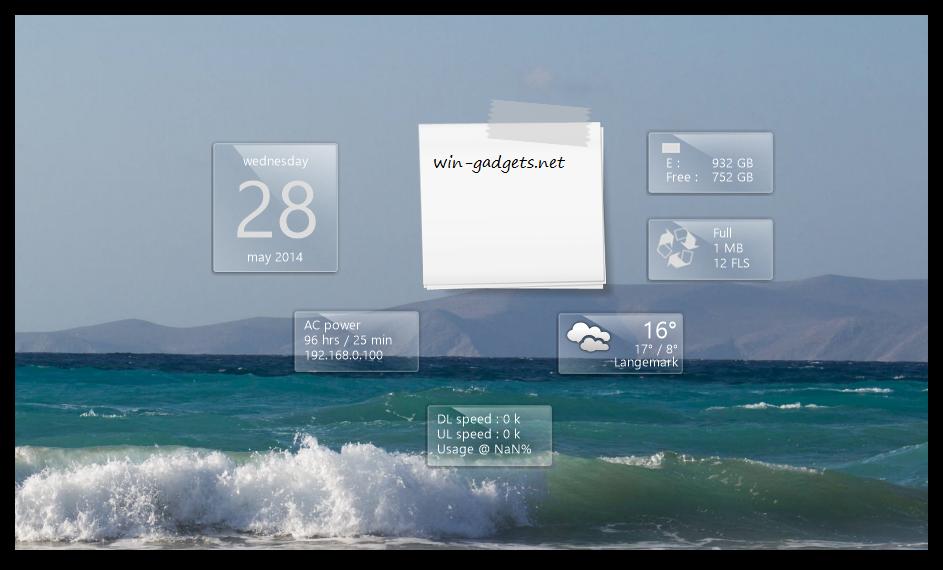 гаджет заметки для windows 7 скачать