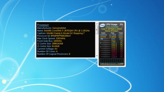 Скачать гаджет All CPU Meter 4.7.3 бесплатно.