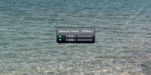 Общий вид гаджета Network Meter на рабочем столе.