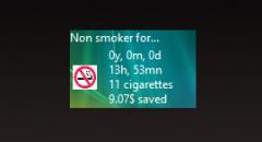 Гаджет Stop Smoking 2.2 - счетчик курения.