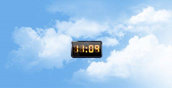Скачать гаджет Dark digital clock - электронные часы на рабочий стол.