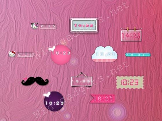Скачать гаджет Digital Clock invhizible бесплатно.