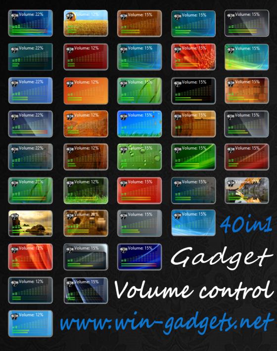 Скачать Volume control - гаджет громкость звука для Windows 7.