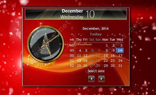 Гаджет Новогодний календарь.