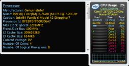 Гаджет All CPU Meter 4.7.3