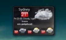 Гаджет погоды на рабочий стол - WeatherForecast.