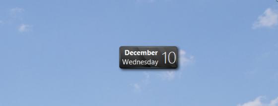 Виджет Новогодний календарь.