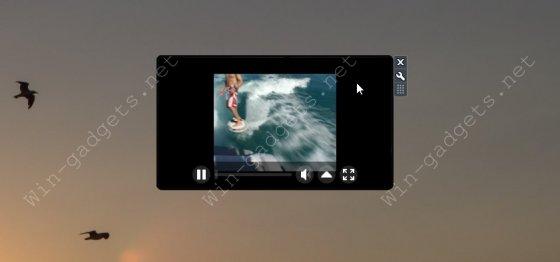 Гаджет Media Player Pro - ТВ на рабочий стол.