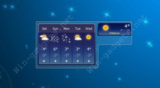 Гаджет прогноз погоды - Accu Weather Mini Forecast