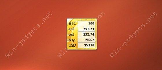 Гаджет MyBitcoins - Курс Bitcoin.