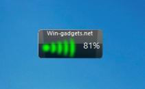 Гаджет Windows 7 Wireless - уровень Wi-Fi сигнала.