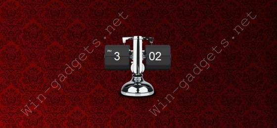 Металлические перекидные часы на рабочий стол.