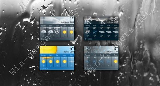Гаджет MSN погода на рабочий стол.
