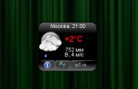 Погода на рабочий стол - скачать гаджет Rp5 Weather.