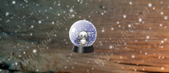 Гаджет снежный шар на рабочий стол.