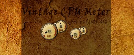 Скачать гаджет Vintage CPU Meter бесплатно.