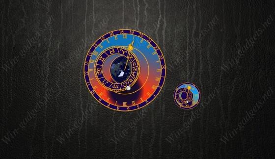 Гаджет Астрономические часы (Орлой) для Windows 7.