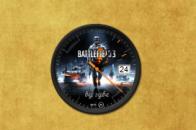 Часы Battlefield 3 на рабочий стол Windows 7.