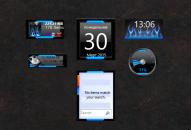 Набор гаджетов в одном стиле для Windows 7.