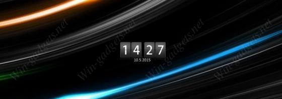 Черные перекидные часы на рабочий стол Windows 7.