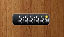 Белые цифровые часы на рабочий стол Windows 7.