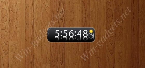 White Digi Clock - Белые цифровые часы для Windows 7