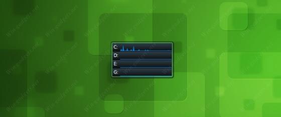 Гаджет Drive Activity для Windows 7