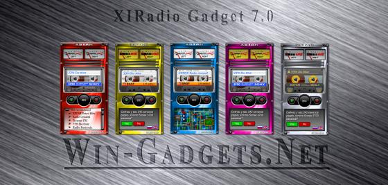 Гадже-радио XIRadio Gadget 7.0 для Windows 7.