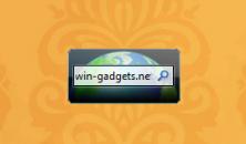Bing Search gadget - гаджет поиска в поисковой сети Bing с рабочего стола Windows 7.