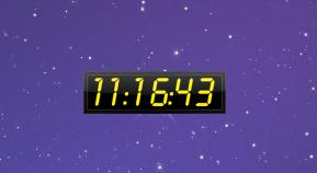 Hud time (24h) гаджет прозрачные часы на рабочий стол windows.