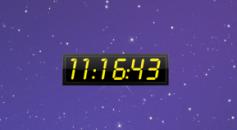 Twenty Four Clock - желтые часы 24h на рабочий стол Windows 7.