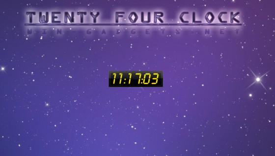 Twenty Four Clock - желтые часы в 24 часовом формате.
