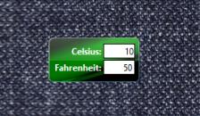 Temperature Converter - Конвертер температур на рабочий стол Windows.