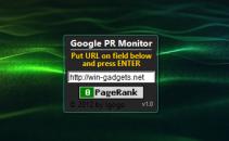 Google PR Monitor - гаджет для анализа Google Page Rank.