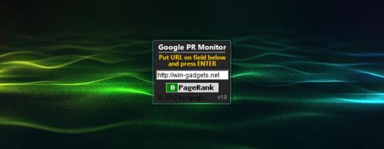 Google PR Monitor - анализ PR сайта.