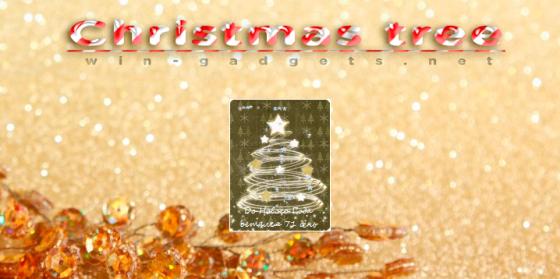 Christmas Tree gadget - елка на рабочий стол Windows 7.