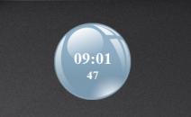 Часы в виде стеклянного шара на рабочий стол Windows 7.