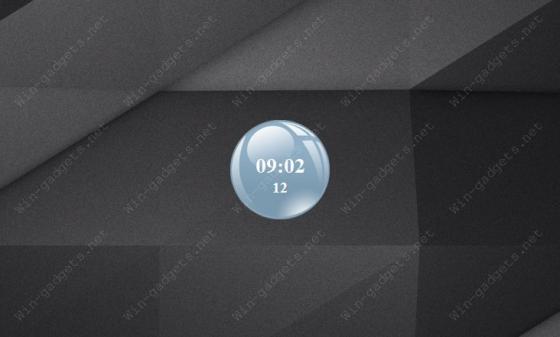 Стеклянный шар с часами на рабочий стол Windows 7/8/10.