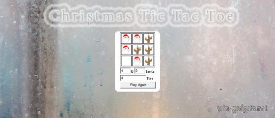 Новогодние крестики-нолики на рабочий стол Windows 7.