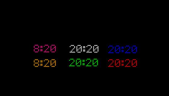 LED clock gadget