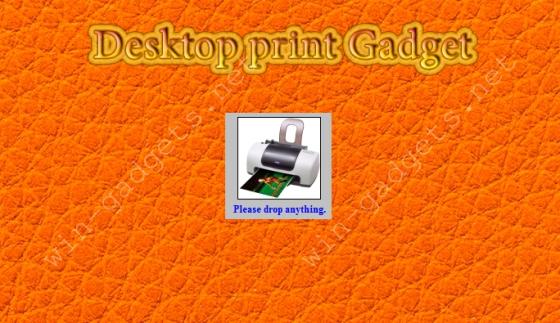 Desktop print gadget на рабочий стол Windows 7